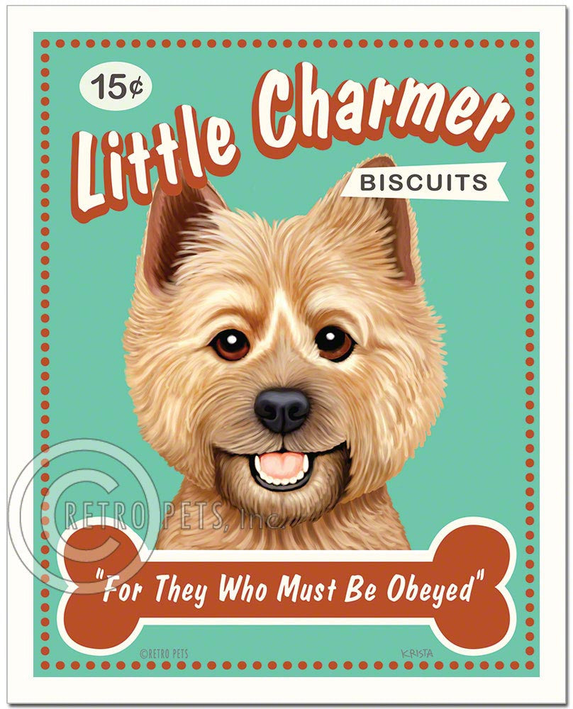 "Cairn Terrier Art ""Little Charmer"" Faux Treats Art Print by Krista Brooks"