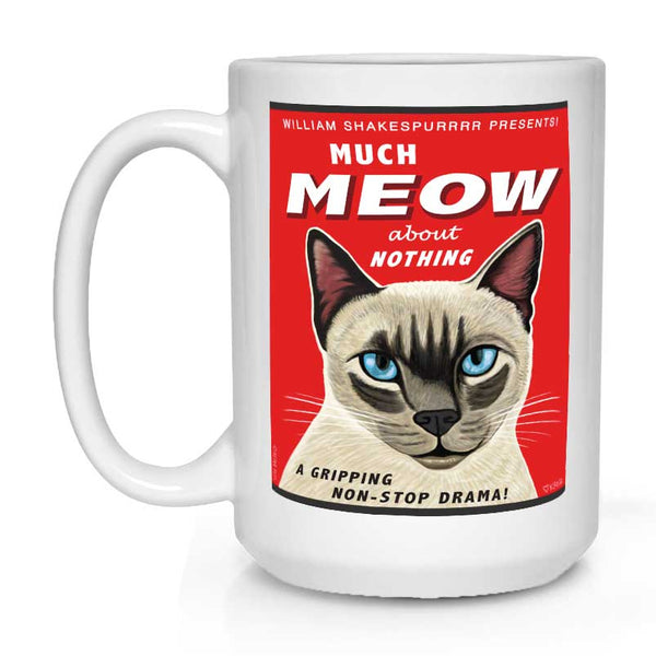 siamese cat art, siamese kitty, chatty kitty, gift for cat lover, cat lover gift, coffee mug
