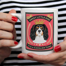 Load image into Gallery viewer, Cavalier art, Cavie art, cavalier king charles art, cavalier coffee mug, gift for cavalier lover, cavalier lover gift, coffee mug