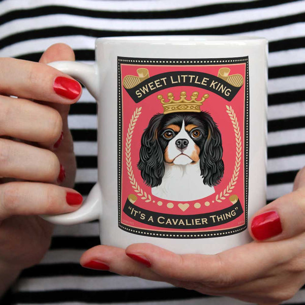 Cavalier art, Cavie art, cavalier king charles art, cavalier coffee mug, gift for cavalier lover, cavalier lover gift, coffee mug