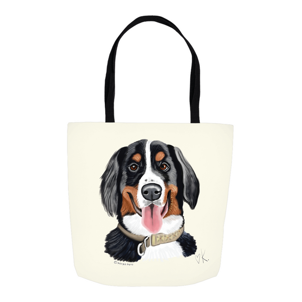 Bernese Mountain Dog Tote Bags