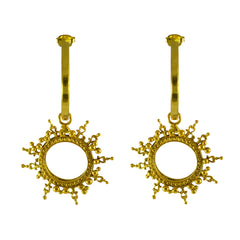 Helios Charm Hoops Gold