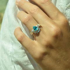 Ocean Droplet Diamond Ring