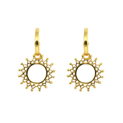 Aphrodite Charm Hoops Gold