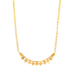 Asura Arc Necklace Gold, gold Geometric curve necklace