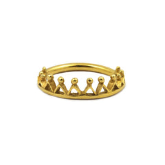 Dainty Stella Crown Ring Gold