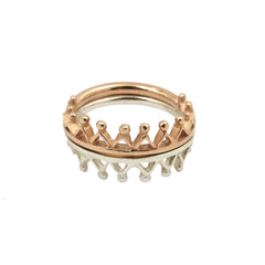 Dainty Stella Crown Ring Rose Gold