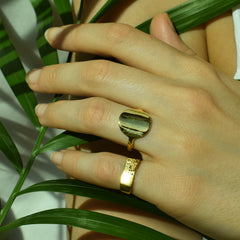 Full Moon Signet Ring