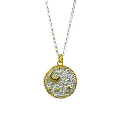 Night's Sky Coin Pendant