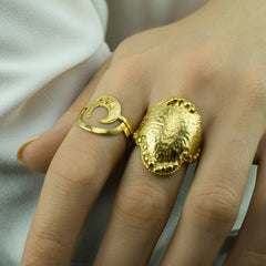 Lucky Crescent Moon Ring