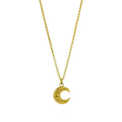 Lucky Crescent Moon Pendant