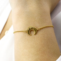 Lucky Crescent Moon Bracelet