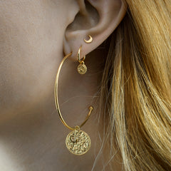 Shooting Star Coin Hoops