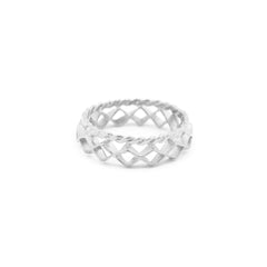 Mini Diamond Stacking Ring Silver