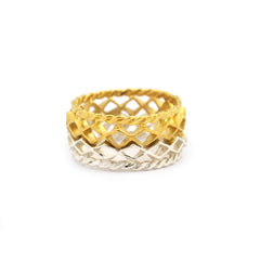 Mini Diamond Stacking Ring Gold