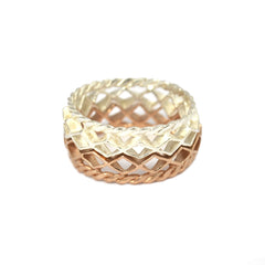Mini Diamond Stacking Ring Rose Gold