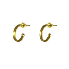 Thom Charm Mini Hoops Gold