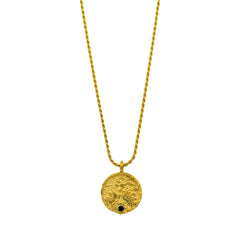 Oceanesque Coin Rope Chain Pendant