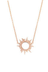 Helios Necklace Rose Gold