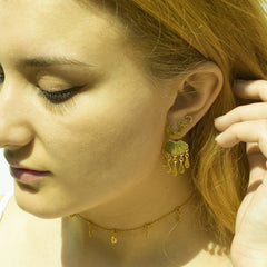 Sea Shell & Water Droplet Ear Jackets
