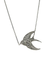 Swallow Necklace Silver