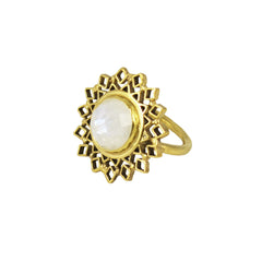 Spectrum Ring Gold with Moonstone