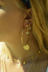 Moonbeam Charm Hoops