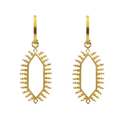 Temple Charm Hoops Gold
