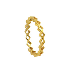 Tiny Diamond Stacking Ring Gold