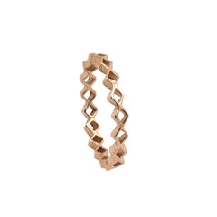 Tiny Diamond Stacking Ring Rose Gold