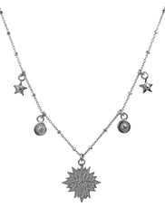 Sacred Star & Coin Bobble Chain Necklace