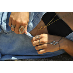 Intricate Statement rings, Aphrodite Ring Silver, silver circular fretwork lattice mandala ring