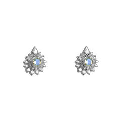 Moonbeam Beaded Studs