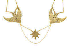 Swallow Soulmate Necklace Gold