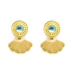 Eye of the Ocean Shell Ear Jackets