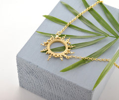 Helios Necklace Gold