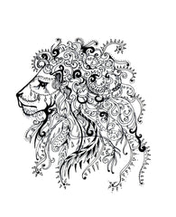 Regal Lion Print