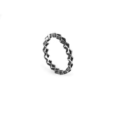 Tiny Diamond Stacking Ring Silver