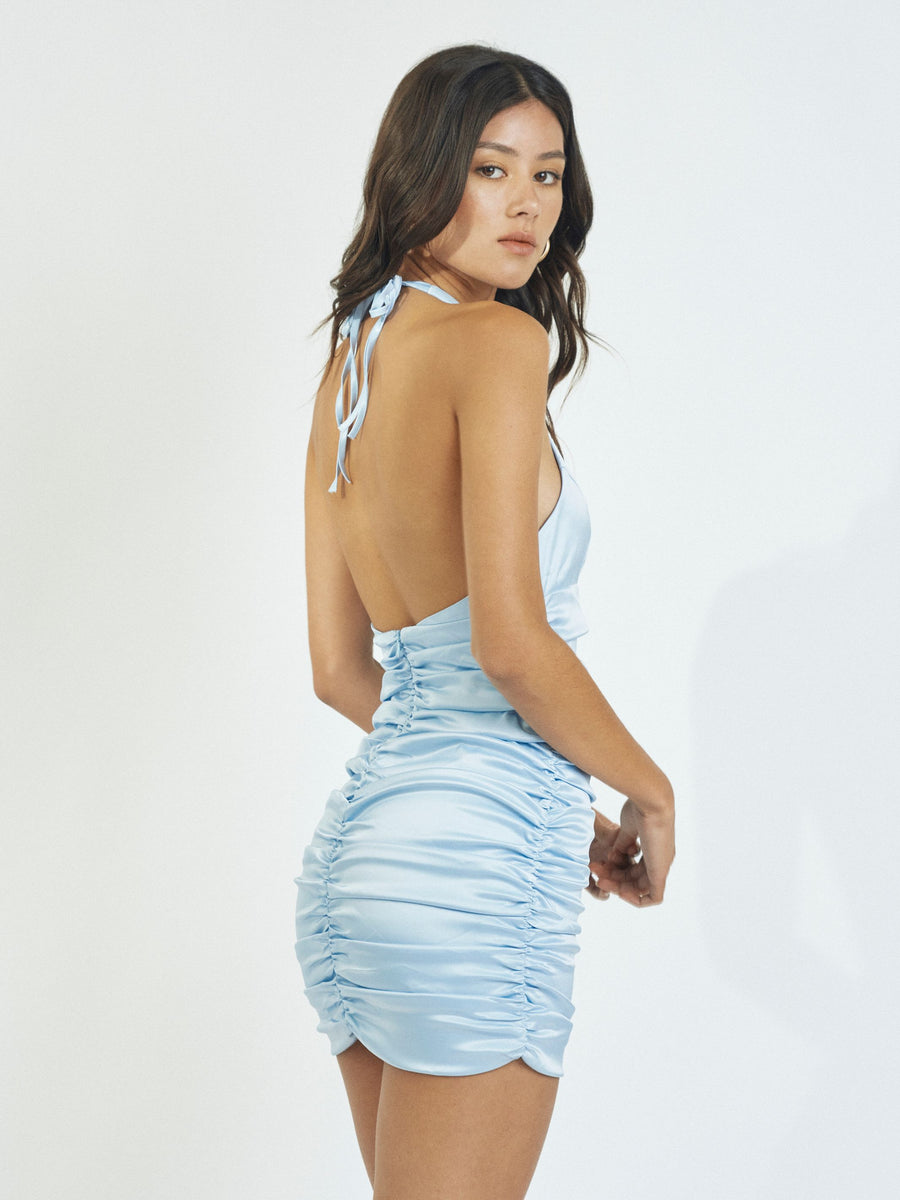 AMELIA MINIDRESS - BABY BLUE