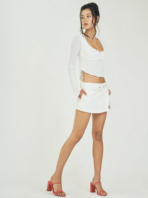 HARPER MINI SKORT - WHITE
