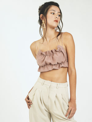 TROUBLE MAKER STRING TOP - DUSTY PINK
