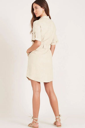 Ministry of Style - Tropicana Mini Dress - Beige