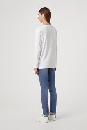 C&M - Agnes Long Sleeve Tee - White