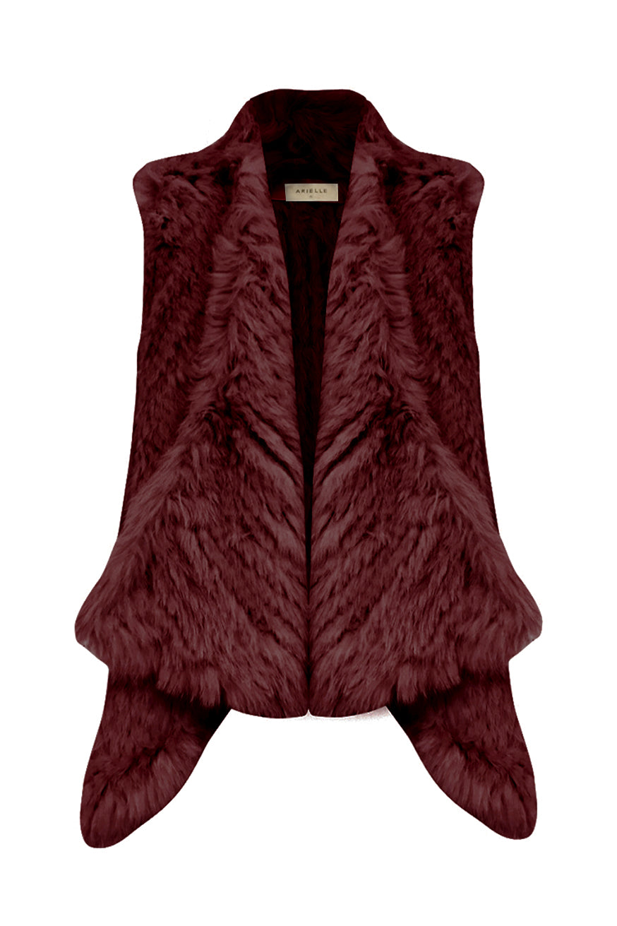 Arielle - Draped Vest - Deep Wine