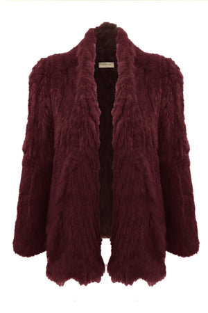 Arielle - Waterfall Jacket - Deep Wine