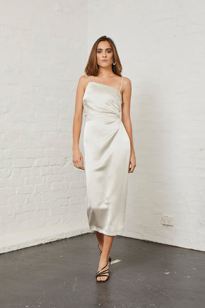 Bec & Bridge - Claudia Asymmetric Dress - Champagne