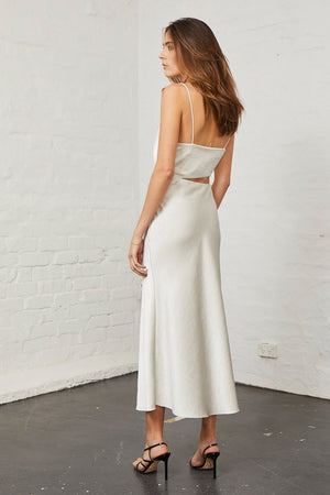 Bec & Bridge - Claudia Cut Out Dress - Champagne