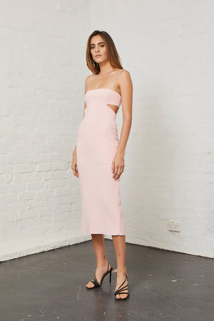 Bec & Bridge - Elle Cut Out Dress - Light Blush