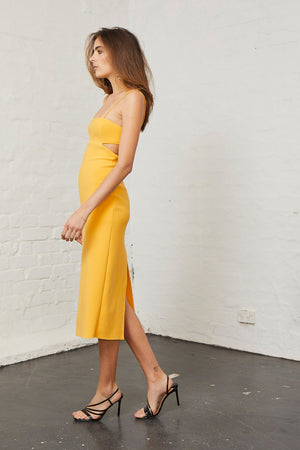 Bec & Bridge - Elle Cut Out Dress - Mango