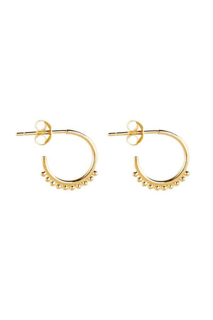 By Charlotte - Gold Cherish Hoop Earrings